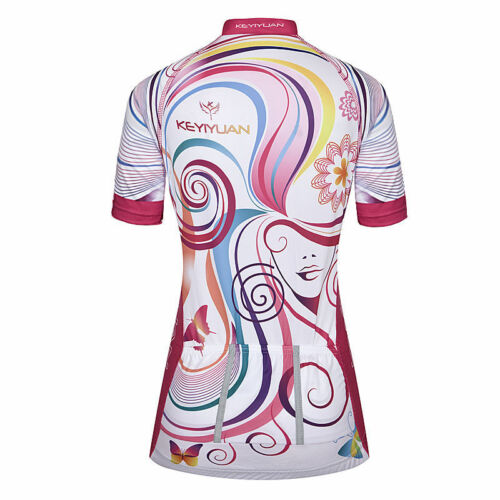 Ladies Cycling Jersey Short Sleeve Women/'s Bike Cycle Jersey Top Reflective
