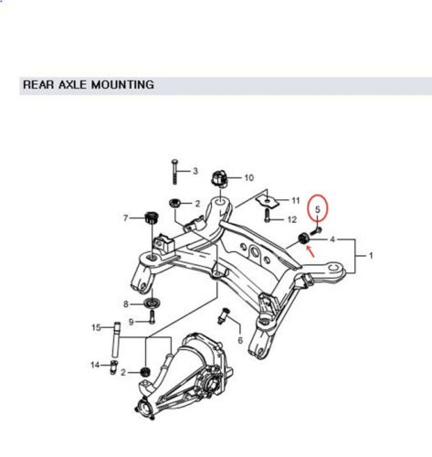 Genuine RR Axle Housing To C//MBR Bolt:2P for Ssangyong STAVIC RODIUS 4075421001