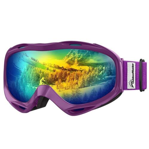 OutdoorMaster OTG Ski Goggles Over Glasses Ski//Snowboard Goggles 100/% UV Protect