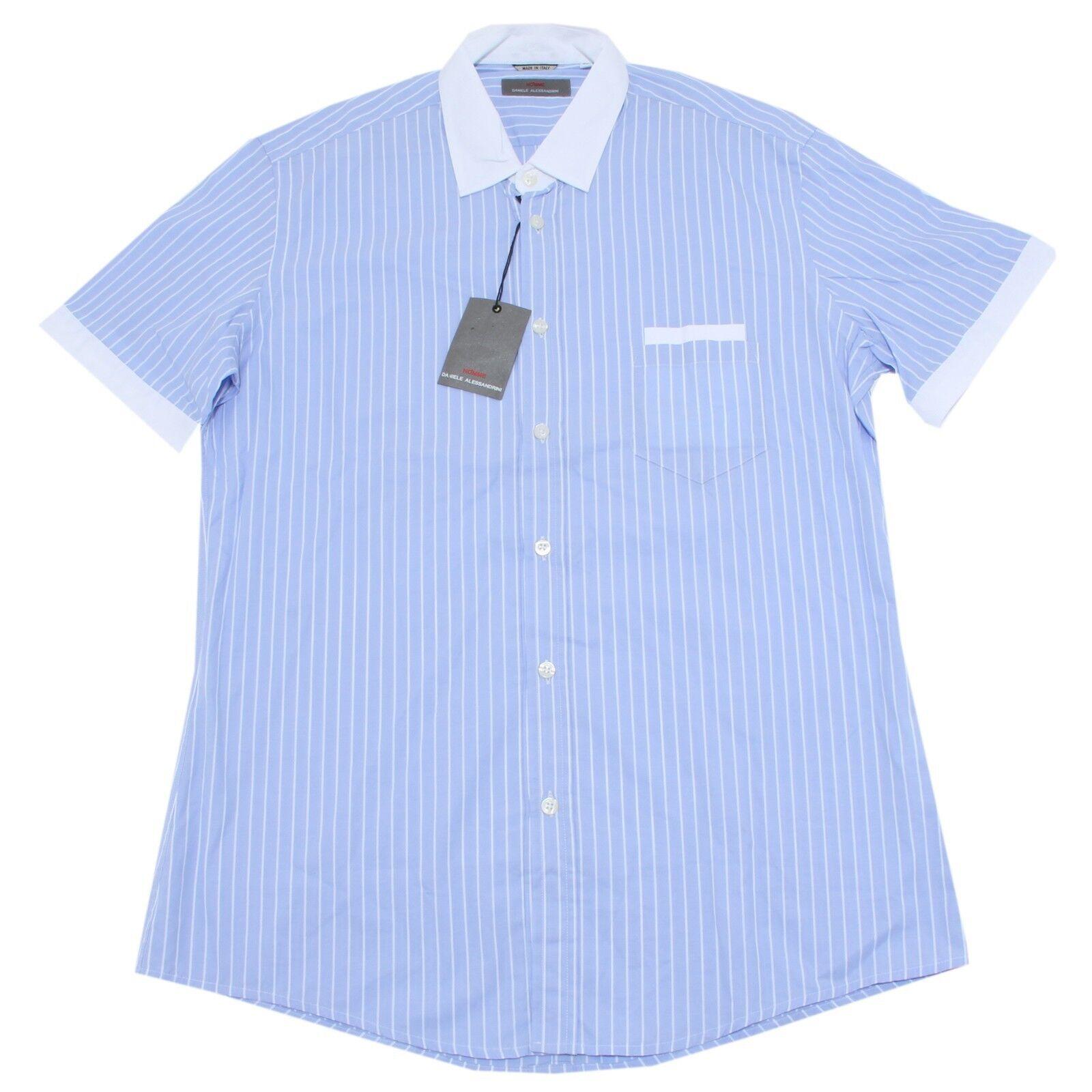 8124 camicia short sleeve DANIELE ALESSANDRINI  uomo shirt men