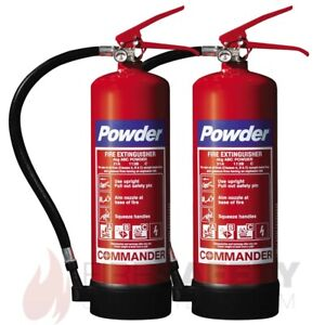 NEW TWO NEW 4KG ABC DRY POWDER FIRE EXTINGUISHER