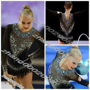 Stylish rhythmic gymnastics leotard,Acrobatic competition baton twirling leotard