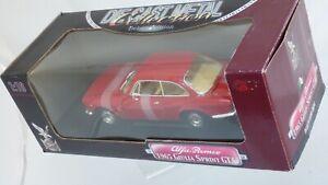 Raro-beige-int-1-18-Rojo-1965-Alfa-Romeo-Giulia-Sprint-GTA-Bertone-Coche-Modelo-Juguete