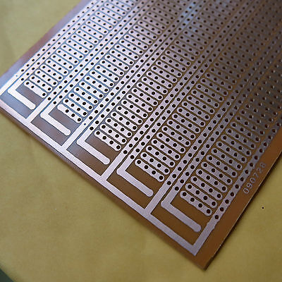 5x pcb 6.1x6.3cm 4er Streifenraster Veroboard Lochraster Platine Leiterplatte