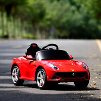 Ferrari F12 Kids Ride On Car Electric Power w/ MP3 RC Remote Control Toy Red