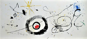 MIRO-THE-UNIVERSE-LISTED-ORIGIN-LITHOGRAPH-1963-FREE-SHIP-IN-THE-US