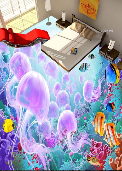 3D Quallen 59 Fototapeten Wandbild Fototapete Tapete Familie DE Lemon