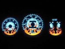 96-00 Honda Civic EX LX SI Automatic AT Flamed White Face Glow Gauges 140mph