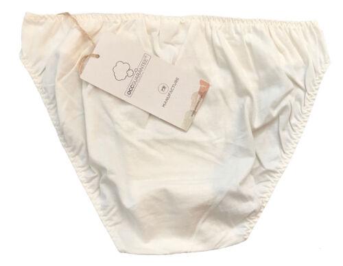 100/% Natural Pure Organic Certified Cotton Pantie BIKINI BOTTOMS Extra Large