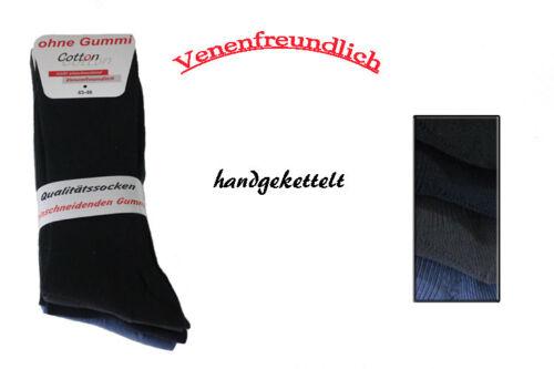 8Paar Herren Diabetiker-Socken farbig ohne Gummi 39//42