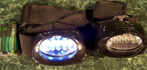 Two 5 LED HEAD BAND HARD HAT LIGHT New headlamp flash