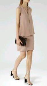 Chain Designer Detail New Blaze Layered brand Dress Dusky Size Pink Reiss 8 AAp7qSr