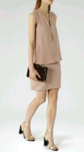 color A de Reiss Detalle Dress cadena talla estrenar de capas Blaze con 10 rosa Diseñador oscuro OpqXX