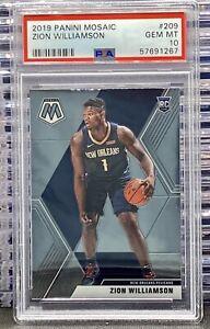 2019-20 Panini Mosaic Zion Williamson #209 RC PSA 10 GEM Rookie Pelicans