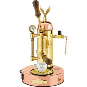 Elektra-Micro-Casa-Copper-Brass-Manual-Lever-Espresso-amp-Cappuccino-Machine-110V