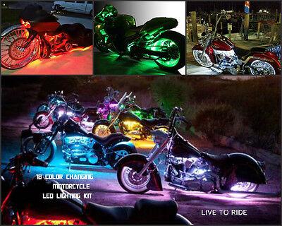 12pc 18 Color Change 5050 SMDRGB Led Street Glide Motorcycle Led Pod Light Kit