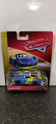 Disney Pixar Diecast Cars 3 Richie 2019 Gunzit Gasprin 70 Next-Gen New Away 14//6