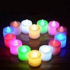 Colorful LED Flickering Tea Light Candle Xmas Wedding Decor Flameless Battery 1x