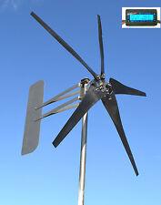 Wind Turbine W/KT 5 Blade LOW WIND 1800W 12 volt AC 3-phase 7.1 kWh Roller Kit