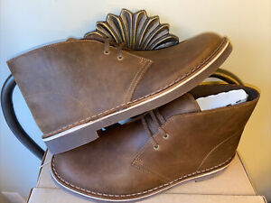 Clarks Sz 9 New Mens Chukka Brown Leather Lace Up Ankle Boots Arc