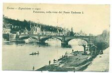 "ESPOSIZIONE INTERNAZ. TORINO 1911 ""Panorama colla vista del Ponte Umberto I"""