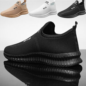 Men's Outdoor Slip On Sneakers Athletic Lightweight Traienrs Running Shoes Tenni