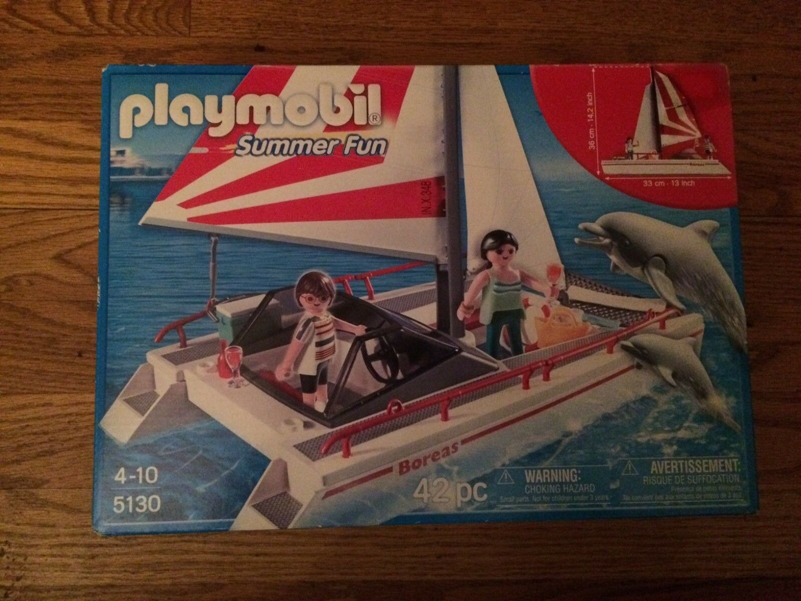 Playmobil 5130 Catamaran Sail Sail Sail Boat with Couple and Dolphins New in Box  7913fe