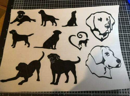 A4 labrador dog vinyl decal stickers multi car glass mirror bottle cup diy craft