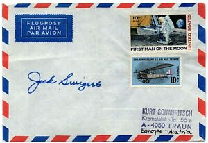 Airmail envelope autopen by Apollo 13 astronaut Jack Swigert Houston we've had..