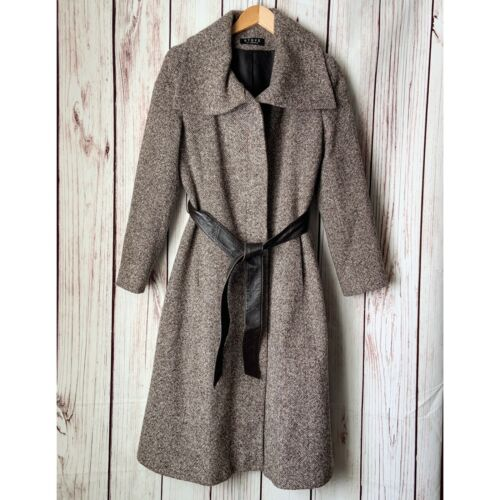Steve By Searle Women's Brown Wrap Tweed Trench Co