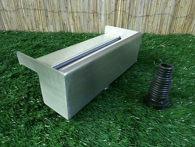 200mm Stainless Steel Waterfall WATER BLADE Cascade Koi Fish Pond  BACK INLET