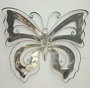 Metal Art Butterfly Wall Hanging Home Decor Indoor Outdoor Rrp