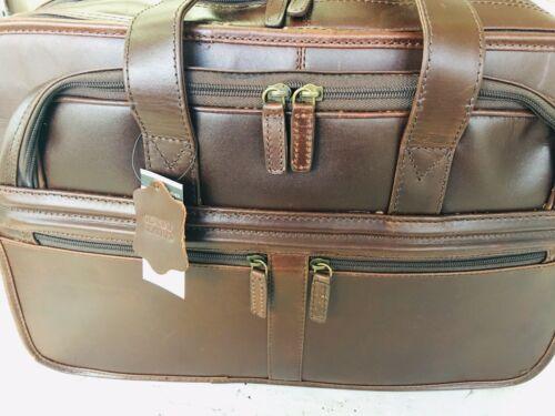 Wilson Brown Leather Briefcase Messenger Laptop Computer  Bag Gorgeous!