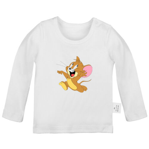 Tom cat and Jerry mouse Newborn Baby T-shirt Infant Clothes Toddler Graphic Tee