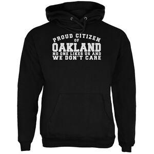 Fier Noir Hoodie Adulte n'aime Personne Oakland cT1lKFJ