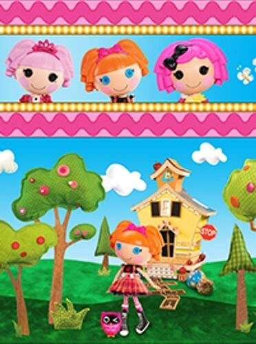 24 LALALOOPSY CUTE AS A BUTTON DOLLS STRIPE FABRIC NO