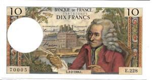 France-1966-10-Francs-P147b-Scarce-note
