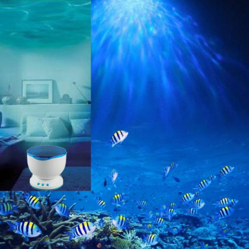 Ocean Sea Daren Waves LED Night Light Projector Romantic Relaxing Lamp w SpeakYW