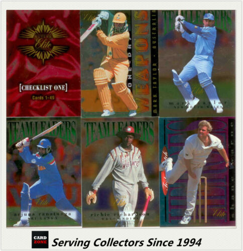 1996 Futera Australia Cricket Elite Trading Cards Foil Card Base Card Set (60)
