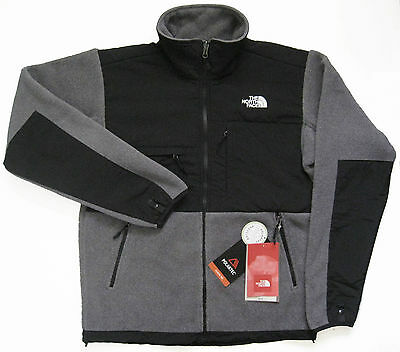 THE NORTH FACE Mens Denali Fleece Jacket Charcoal Grey Grays Polartec AMYN NEW