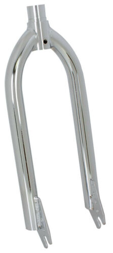 "20/"" FORK BICYCLE  OLD SCHOOL BMX 1/"" THREADED CHROME"