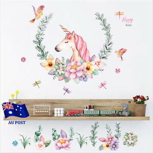 Unicorn-Nursery-Wall-Decal-Mural-Sticker-Removable-Vinyl-Home-Decor-Stickers-BO