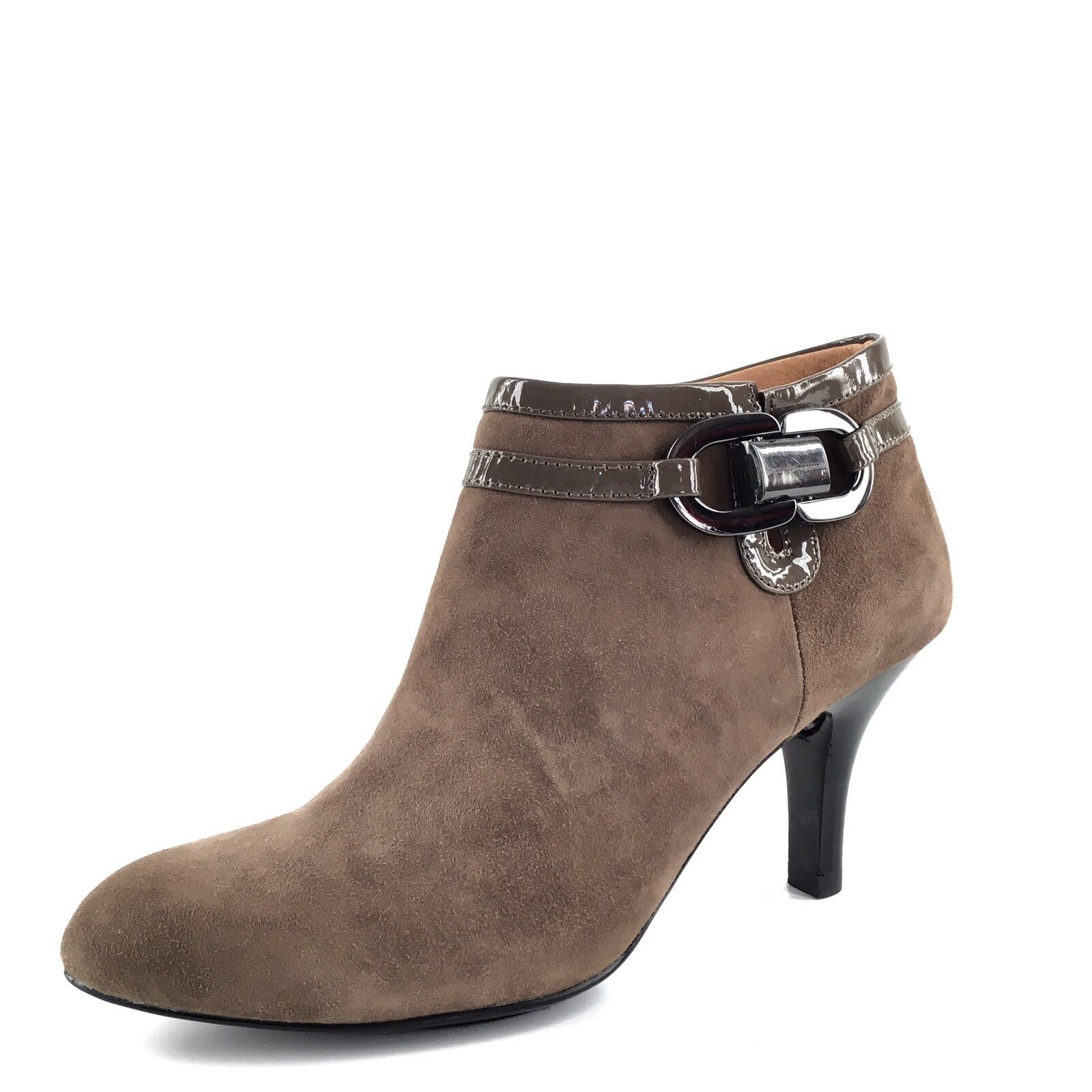 New SOFFT Belvedere Brown Suede Zip Ankle Boots Women's Size 6 M