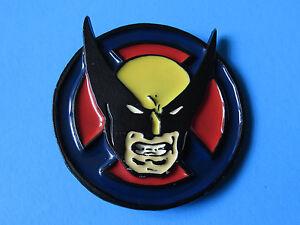 THE-WOLVERINE-3D-Raised-Belt-Buckle-Marvel-Comics-X-Men-Blue-Yellow-Red-Black