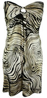 New Womens Ladies Strapless Boobtube Bodycon Celeb Party Stretch Dress 8-14 UK