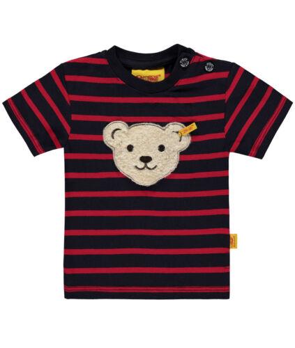 "STEIFF T-Shirt Teddykopf /""quietsch/"" marine-rot Gr 86 SOMMER 2017 NEU"