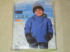 Jungen Ski Jacke  Gr. 86/92, blau, mit Kapize, neu ,ovp