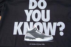 65690e0aeb5e NEW Nike Air Jordan Retro 3 DO YOU KNOW Blk ELEPHANT PRINT Men s T ...