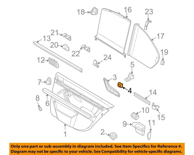 BMW E39 FRONT//REAR LEFT//RIGHT Bar to Bracket for Inside Handle Set of 2 GENUINE