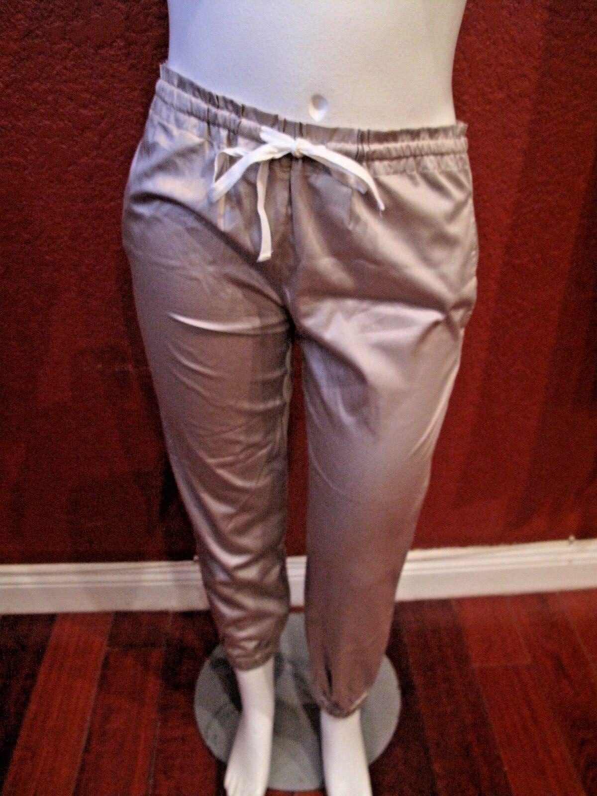 ARZEE NEW YORK  WOMEN'S  PANTS BROWN  ELASTIC WAIST DRAWSTRING SIZE M NWT  150